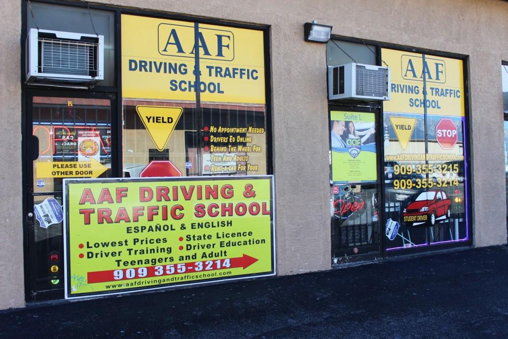 Aaf Driving And Traffic School Traffic Driving School In Fontana Ca